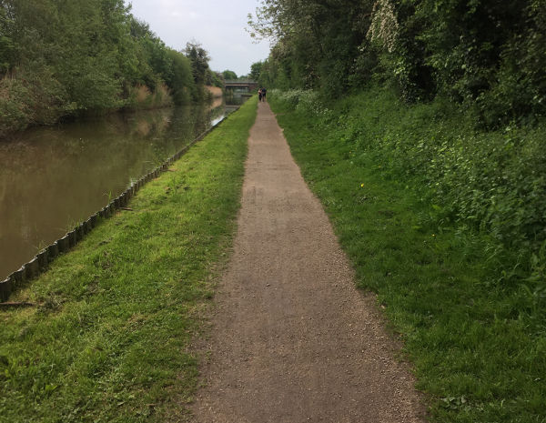 Space is available to widen tow path to enable easy passage of bikes