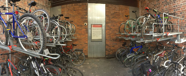 Bike storage is close to capacity